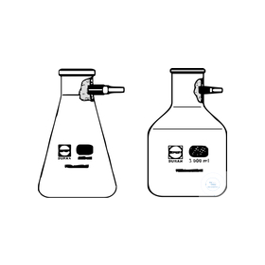 Afzuigkolf met coating (erlenmeyer model) Duran kunststofolijf 2 liter